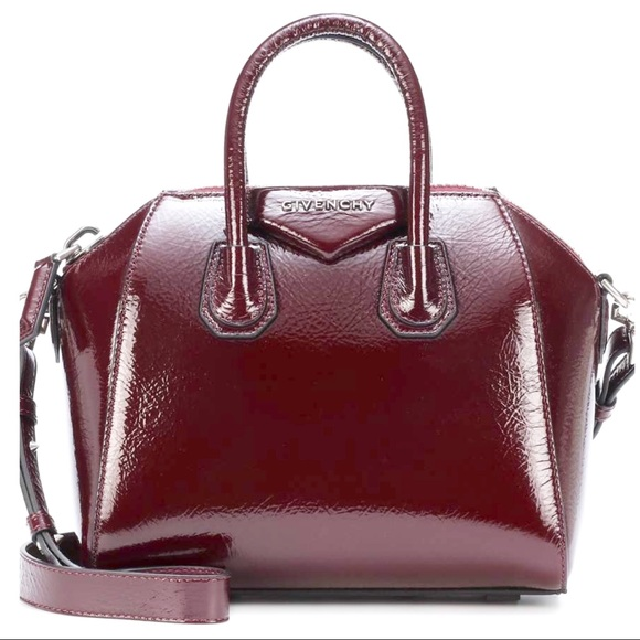 ae7547d2f924 Givenchy Antigona Creased Leather Patent Aubergine